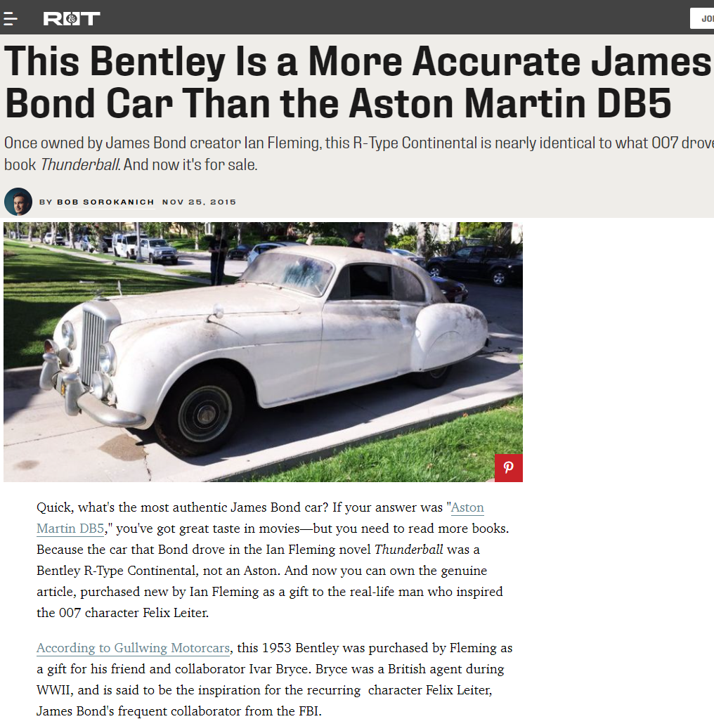 Peter Kumar buys Classic Bentley. Sell Classic Bentley and Rolls Royce. Gullwing Motor Cars