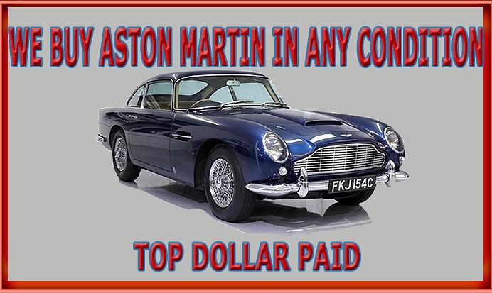 Sell Aston Martin Call Peter Kumar We buy Classic Aston Martin