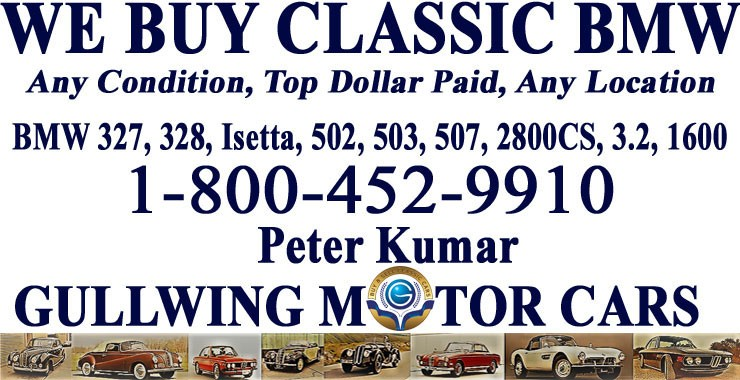 Sell Classic BMW | Call Gullwing Motor Cars | Vintage BMW For Sale