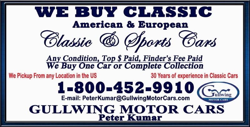 CLASSIC AND ANTIQUE CARS WANTED | SELL YOUR COLLECTOR CAR